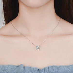 Jewelry - NEW 925 Sterling Silver Diamond Crown Necklace